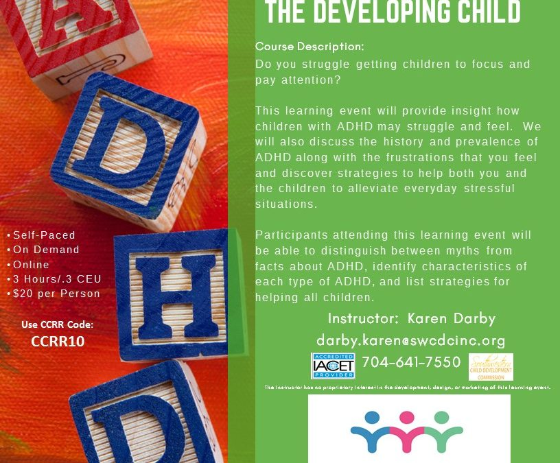 Online- ADHD & The Developing Child