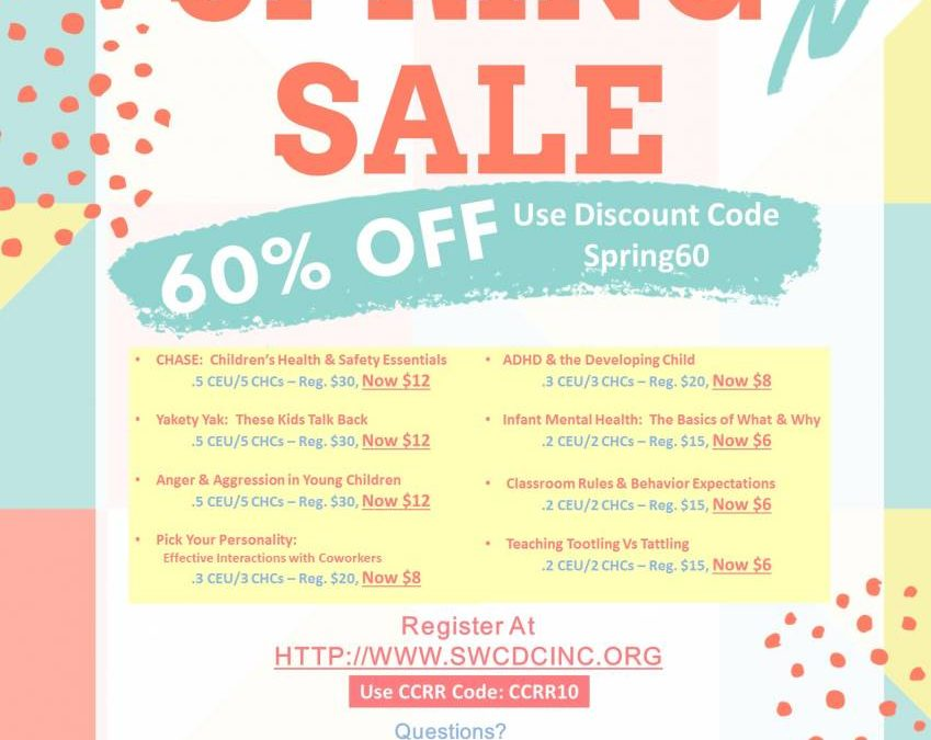 Online- Spring Sale, Self-Paced online courses