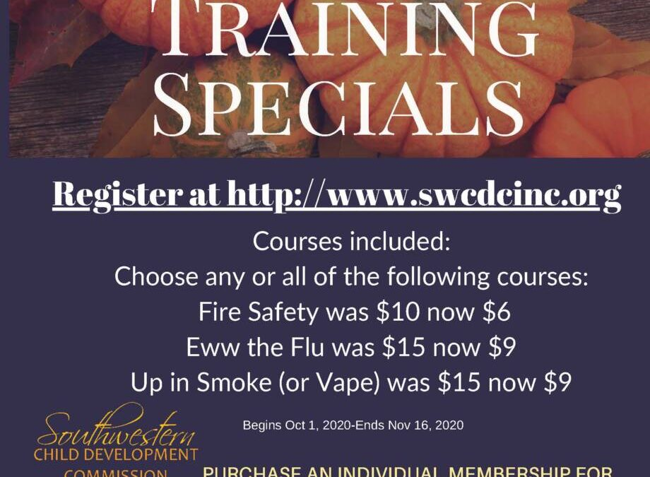 SWCDC – Autumn Training Specials  on Demand trainings